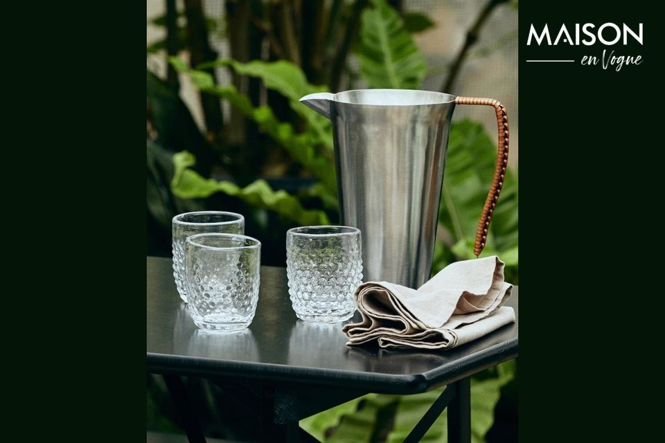 Doyet pitcher in stainless steel with leather handle Nordal