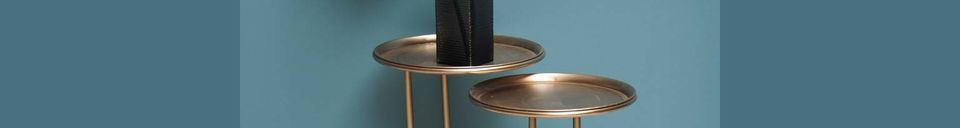 Material Details Duo of Eclipse Metal Side Tables