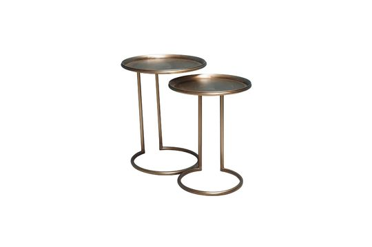 Duo of Eclipse Metal Side Tables Clipped