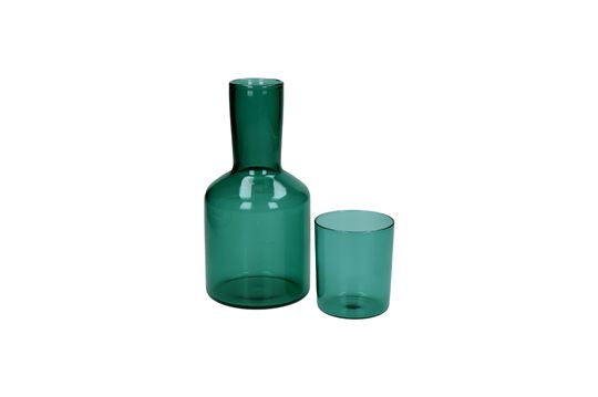 Duo of Lasi glass and glass decanter Clipped