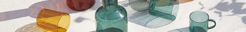 Material Details Duo of Lasi glass and glass decanter
