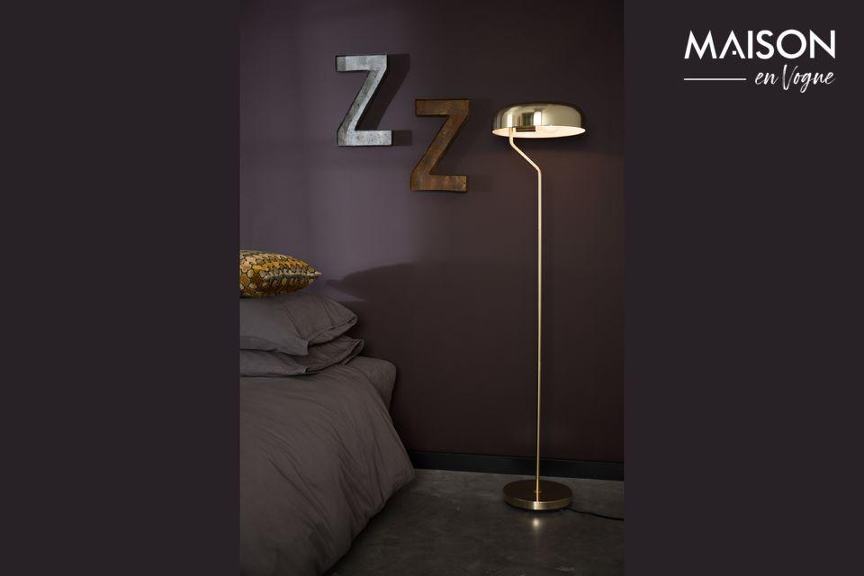 Eclipse Brass Floor Lamp - 7