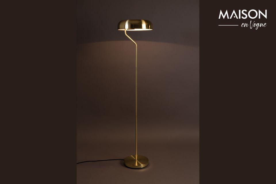 Eclipse Brass Floor Lamp Dutch Bone