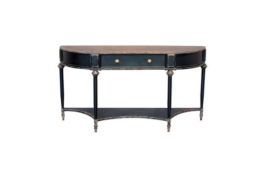 Edouard Black console 2 levels and drawer Clipped