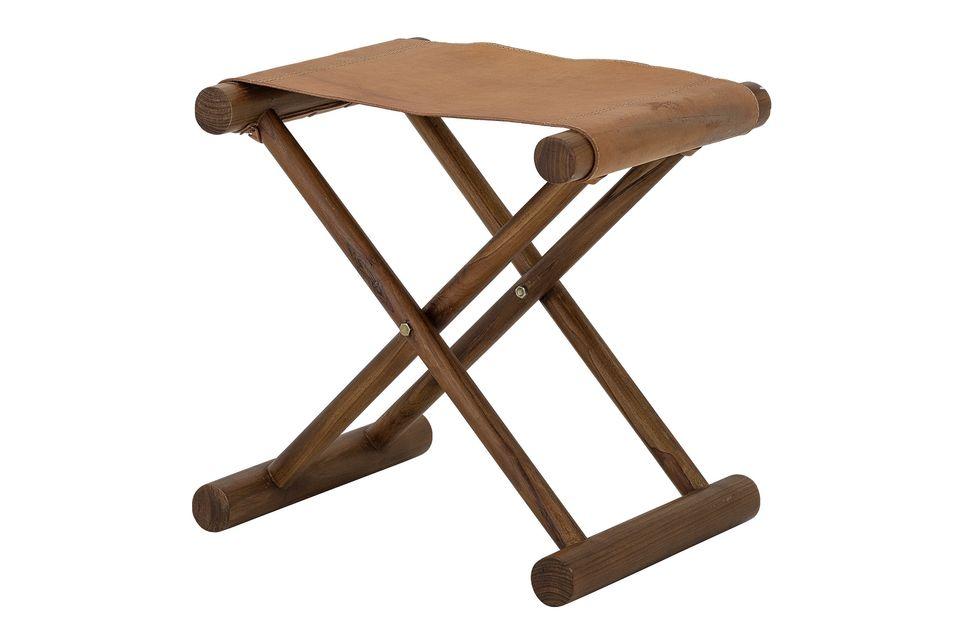 Esma Leather stool Bloomingville