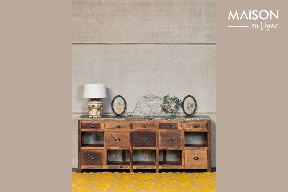 A large authentic buffet with plenty of storage space