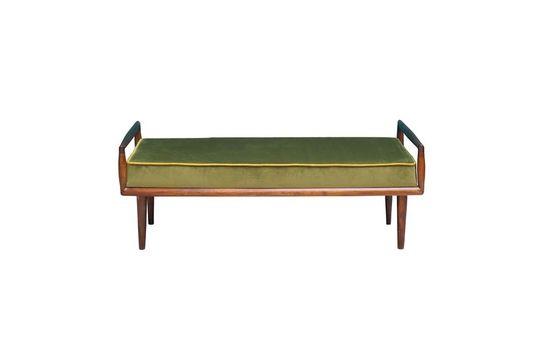 Farrow Green Velvet Bench