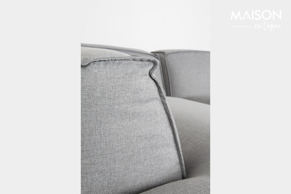 This corner sofa combines incomparable comfort and modernity