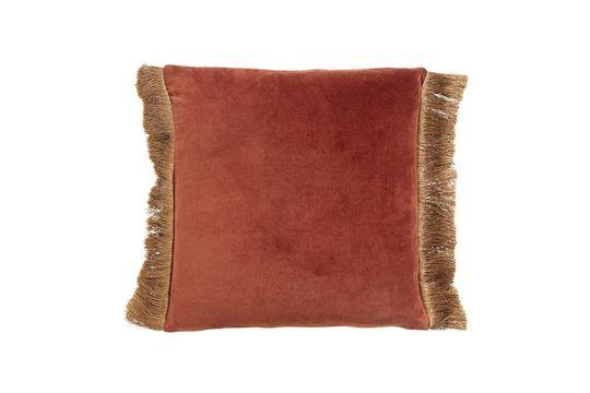 Feuchy terracotta velvet cushion cover Clipped