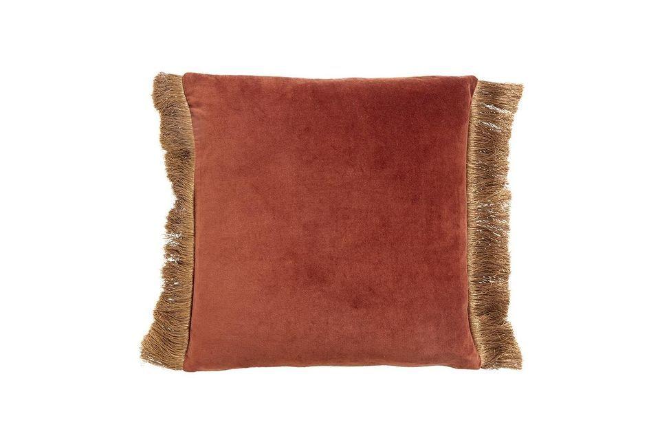 Feuchy terracotta velvet cushion cover Nordal