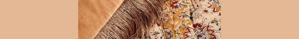 Material Details Feuchy terracotta velvet cushion cover
