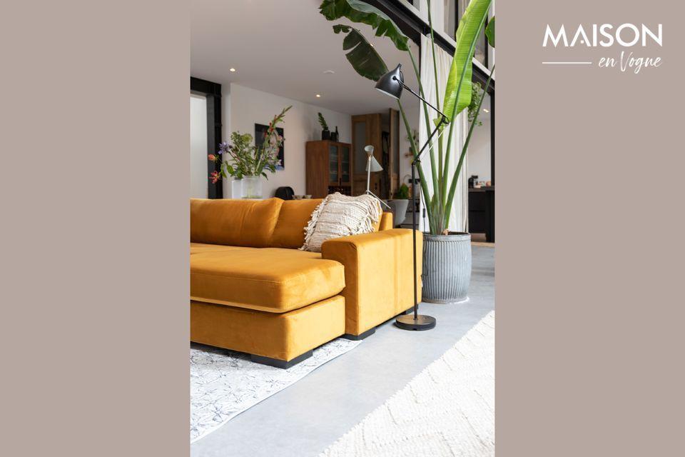 An elegant corner sofa for a comfortable and contemporary interior