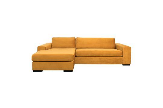 Fiep left Sofa in ochre velvet Clipped