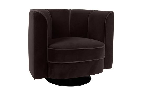 Fleur black Lounge Armchair