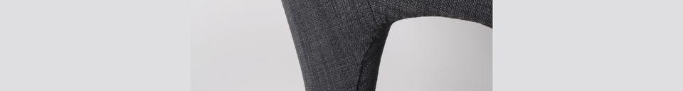 Material Details Flexback Black and dark grey armchair