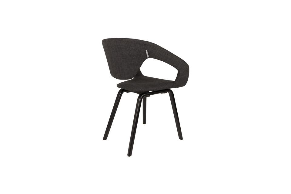 Flexback Black and dark grey armchair - 5