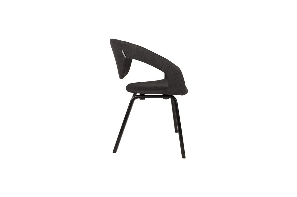 Flexback Black and dark grey armchair - 6