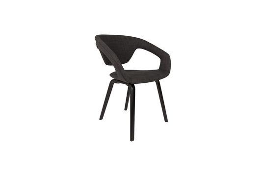 Flexback Black and dark grey armchair Clipped