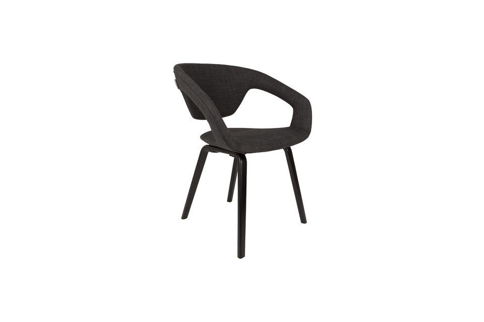 Flexback Black and dark grey armchair - 4