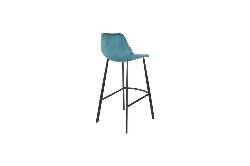 Franky bar stool in petrol blue - 8