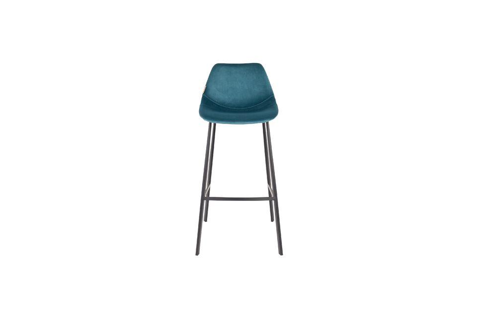 Franky bar stool in petrol blue - 10