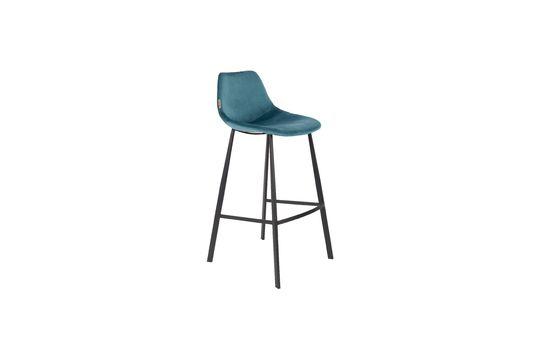 Franky bar stool in petrol blue Clipped
