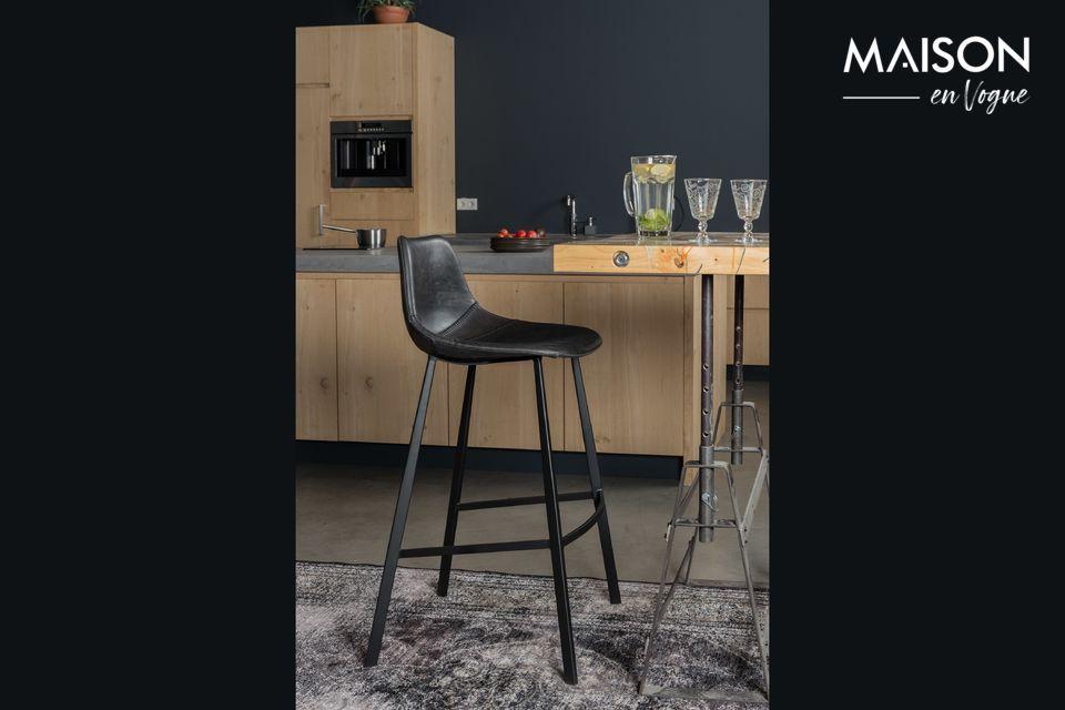 Franky black bar stool Dutch Bone