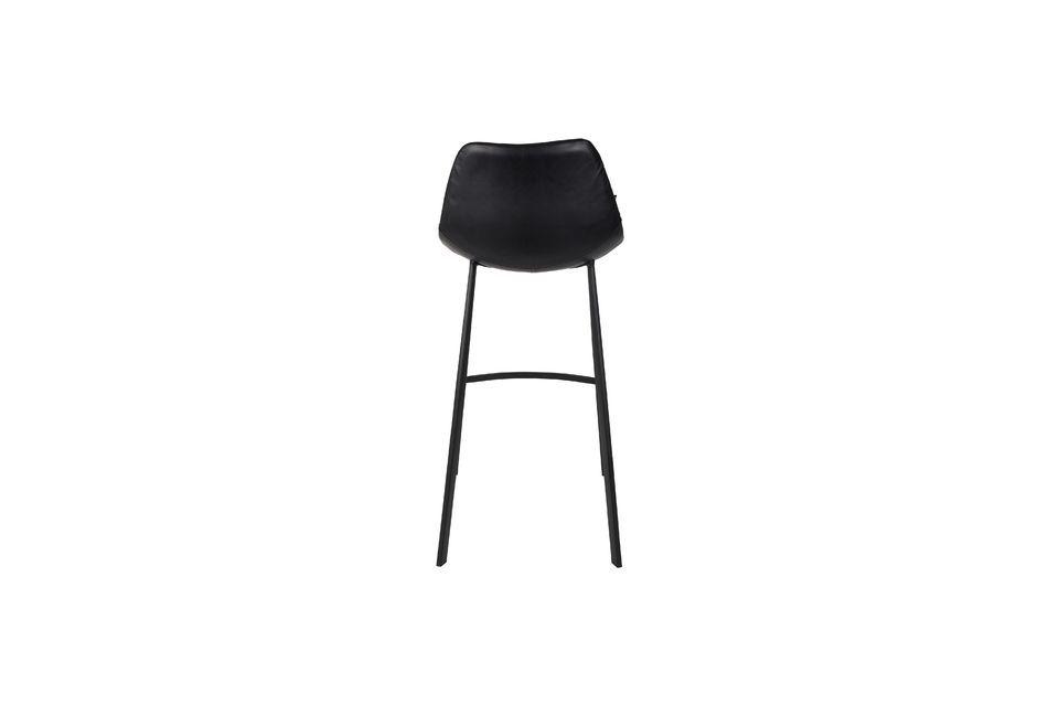 Franky black bar stool - 5