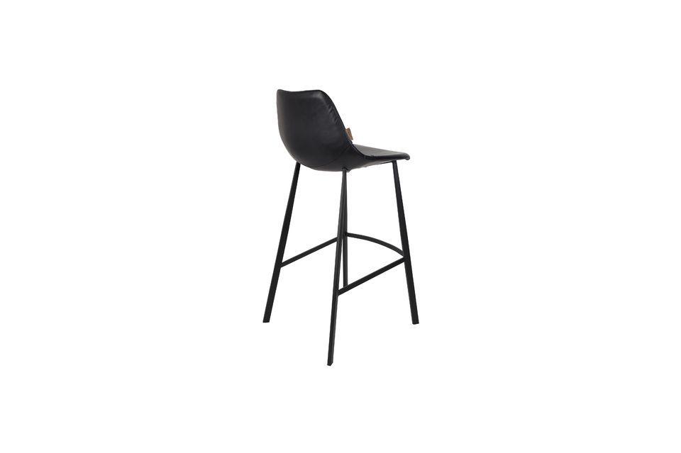 Franky black bar stool - 6
