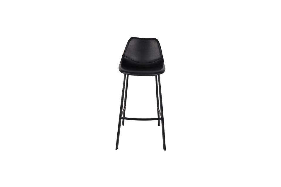 Franky black bar stool - 7