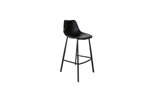 Franky black bar stool