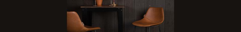 Material Details Franky brown bar stool