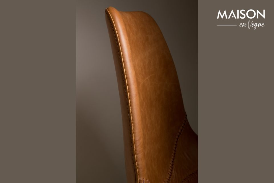 They are covered with brown PU leather and PVC for an assumed vintage note