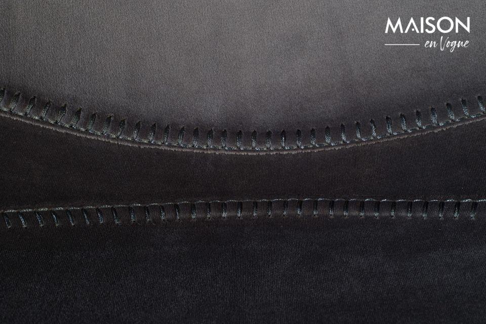 Franky grey velvet bar stool - 5