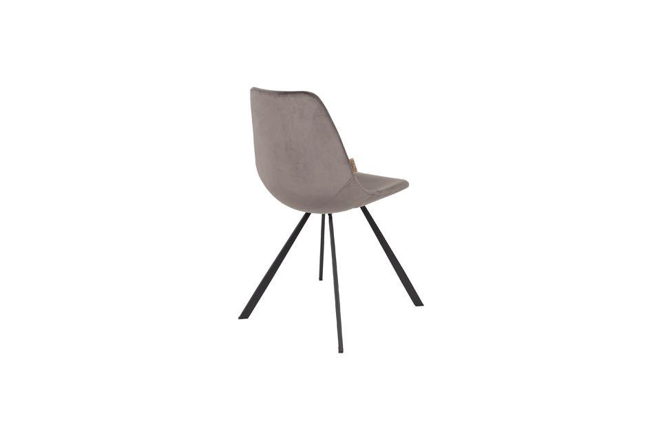 Franky grey velvet chair - 6