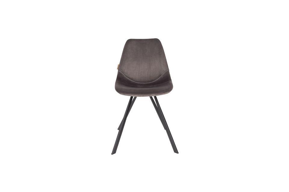 Franky grey velvet chair - 8