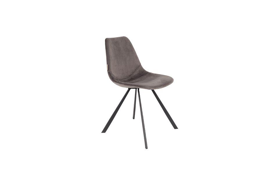 Franky grey velvet chair Dutch Bone