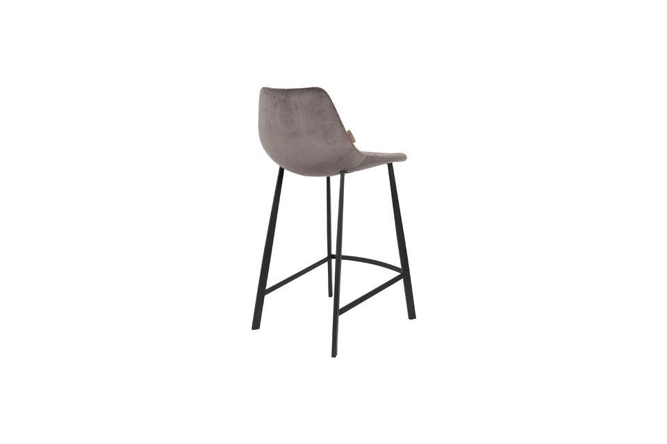Franky grey velvet counter stool - 7
