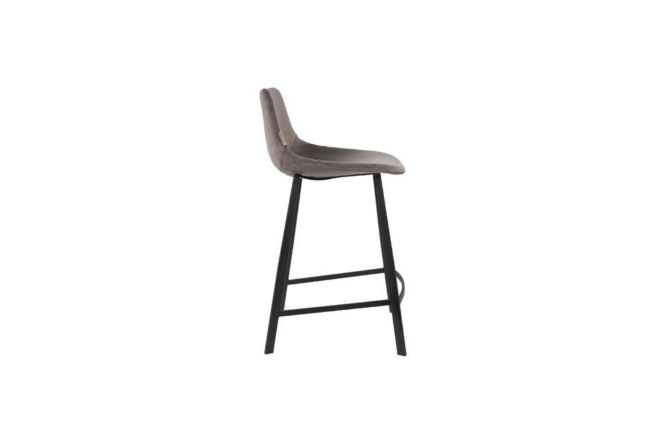 Franky grey velvet counter stool - 8