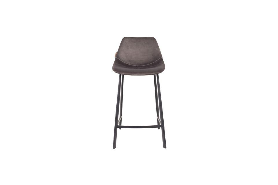 Franky grey velvet counter stool - 9