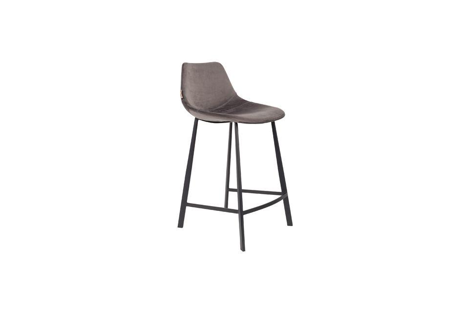 Franky grey velvet counter stool Dutch Bone