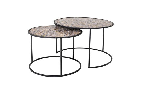 Frida multicoloured glass side tables Clipped