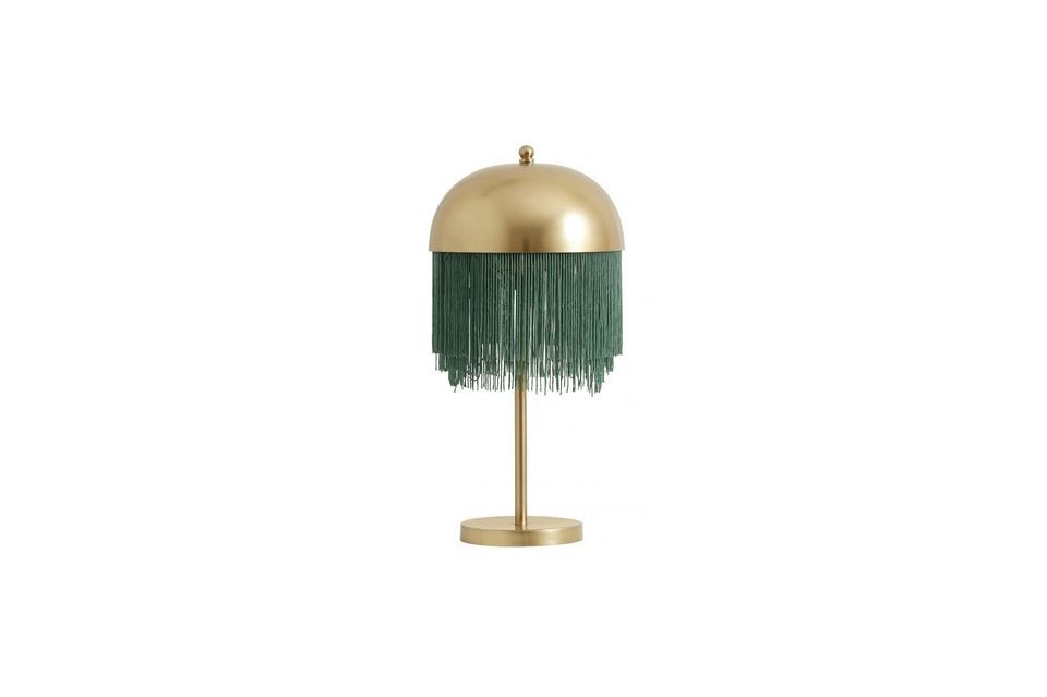 Perfection made lamp, in green and gold