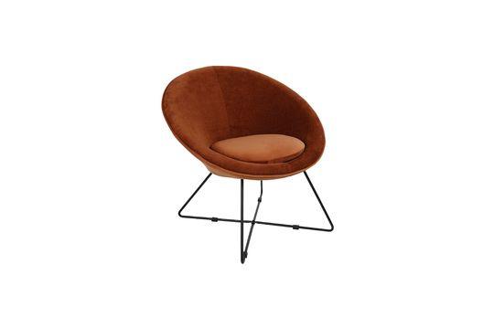 Garbo Orange Velvet Armchair