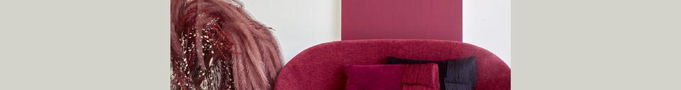 Material Details GarboBordeaux velvet sofa