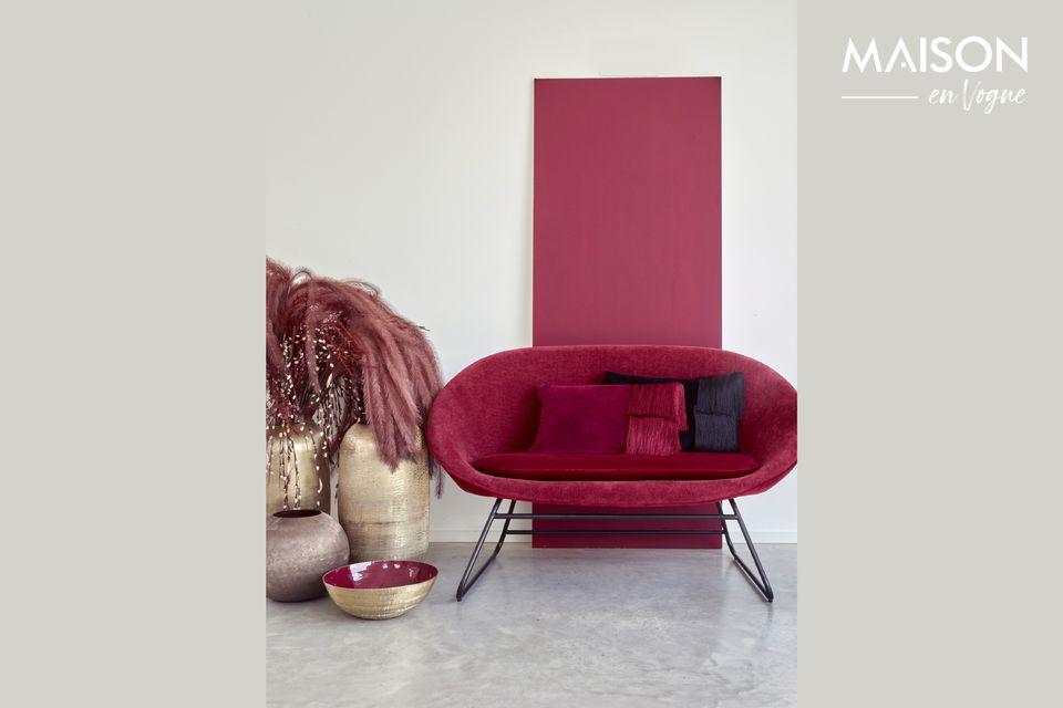 GarboBordeaux velvet sofa Pomax