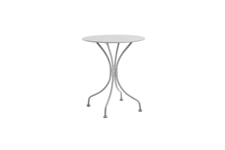 Garden Round garden table in lacquered steel Nordal