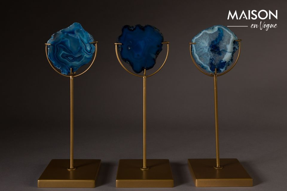 Gem Candleholder Gem blue Dutch Bone