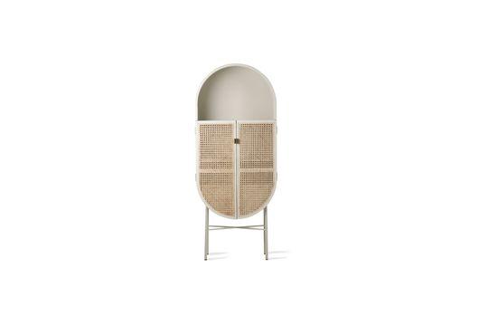 Gruny Retro oval cupboard light grey