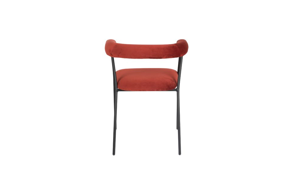 Haily Wine Red Armchair - 6
